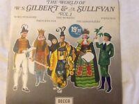 The world of W.S Gilbert & A Sullivan Vol.1 , 2 & 3 vinyl LP