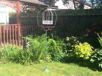 Original 1960s bird cage stand/planter