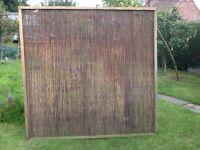 Bamboo framed fence panels