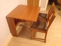 Fold-up table & matching chairs