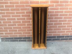 Large antique pine CD rack/cabinet - 100 CD capacity