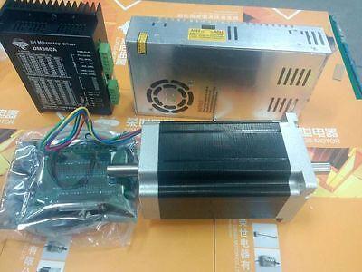 Longs motor 1Axis Nema34 stepper motor 1600oz.in Dual Shaft & driver power kit
