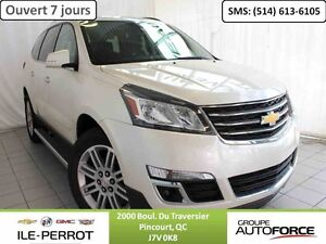 2014 CHEVROLET TRAVERSE LT, TOIT OUVRANT, DVD , 7 PASS, CAMERA