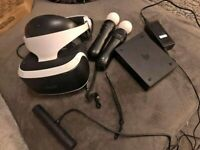 Complete PSVR Playstation 4 VR Full Set with Camera and Move controllers Great Condition
