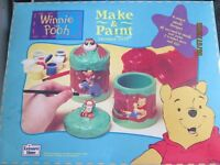 WINNIE THE POOH MAKE AND PAINT TRINKET SET COMPLETE GREAT TO MAKE IN THE SCHOOL HOLIDAYS
