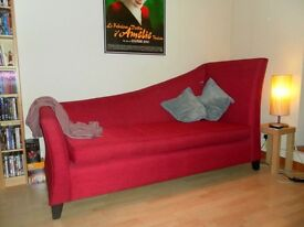 Red sofa / chaise lounge / day bed for sale