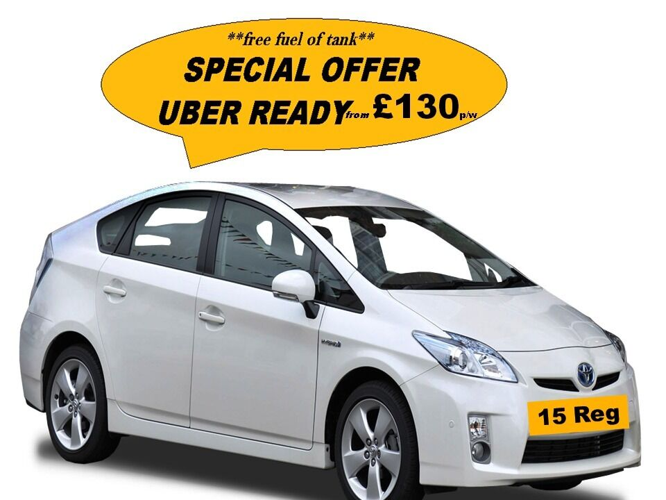 Uber ready PCO/Mini Cab Hire **15 plate prius from £130 P/W** £s Saver On Fuel