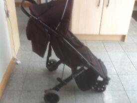 Terrific lightweight Pushchair/stroller-Britax B-Mobile easy to open&close,has hood,foot brakes