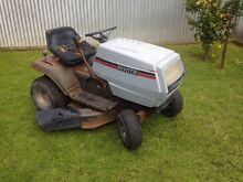 White ride on lawn mower runs well 12.5 HP Mount Barker Mount Barker Area Preview