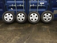4 X NEW FORD TRANSIT CUSTOM LIMITED ALLOY WHEELS AND TYRES