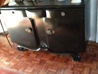 Shabby chic vintage black cabinet/sideboard