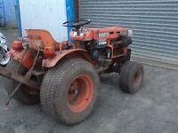 Kubota B7100 Tractor & Rotavator