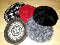 Berets, hats & scarf from