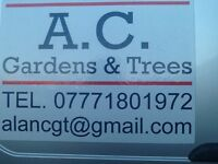 AC Gardens and Trees. Offering grass, hedge and tree cutting