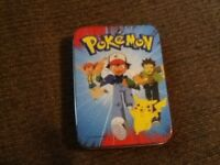 Pokemon Tin with 60 old school cards.