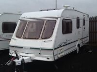 2002 swift TIREE 4 berth end changing room with awning
