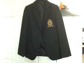 Hardly used DHFS girls school blazer. M & S blazer with sewn on school badge.