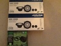 """1 set of fusion 4x6' 2 sets of alpine 5"""" car speakers"""