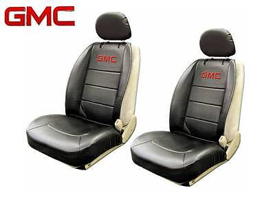 GMC Elite Seat Covers Black Synthetic Leather Side Air bag Ready Fast Shipping