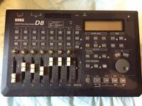 Korg D8 Digital Recording Studio Portable Eight-Track Recorder
