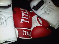 Adidas 8oz Boxing gloves & Title 8oz Boxing gloves
