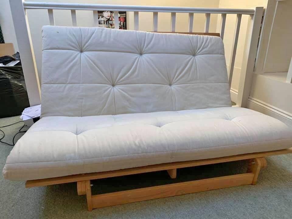 Fine Wooden Futon Sofa Bed In Uxbridge London Gumtree Machost Co Dining Chair Design Ideas Machostcouk