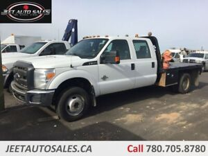 2015 Ford F-350 XLT Crew Cab Flat Deck Dually 6.7L Diesel Hitch
