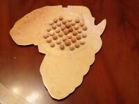 Soapstone Solitaire Set Map of Africa