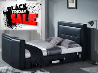 BED BLACK FRIDAY SALE BRAND NEW TV BED WITH GAS LIFT STORAGE Fast DELIVERY 5813DDEUCBCC