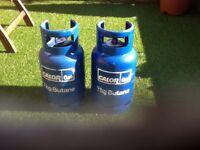 Gas bottles butane