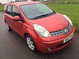 2007*57*Nissan Note Accenta R 1.4 **FULL YEARS MOT** Brilliant wee car**Low tax/insurance**