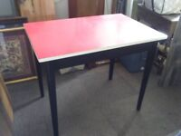red dining table wood vintage red formica top and black leg kitchen dining table formica table dining tables chairs for sale gumtree