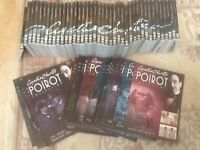 Complete set of 40 Agatha Christie The Poirot Collection DVDs as new