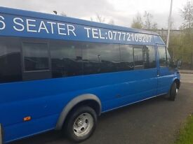 Blue ford transit mini bus for sale