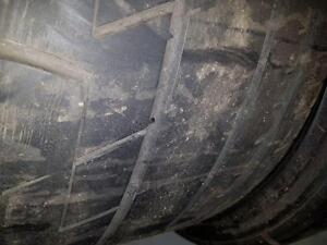 2 pneus d'été 285/35/20, Bridgestone Potenza Re070R, 60% d'usure, 5/32 de mesure.