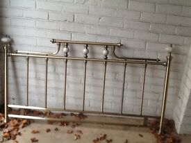 Brass king size headboard, frenchstyle