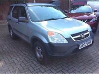 HONDA CRV 02 NEW SHAPE NEW MOT