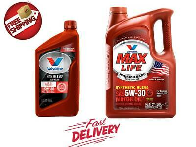 (Valvoline High Mileage with MaxLife Technology 5W-30 Synthetic Blend Motor Oil)
