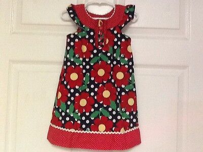 Specialty Baby dress size 24 months red multi  floral lined Y5 (Specialty Baby Clothes)