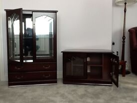 Corner TV Cabinet and Glass Display Cabinet