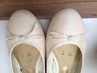 Ivory flat bridesmaid shoes