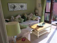 Nearly New Corner Sofa and Footstool