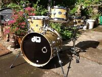 Rare/Original Drum Workshop DW Mini Pro VGC, Collectors fittings, Delmar Wrap