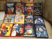 12 kids DVDs , Disney etc