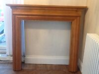 Oak fire surround beautiful and great condition