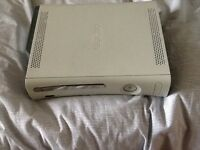 Xbox 360 with two contollers plus wireless adapter