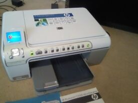 Multifunction Printer HP Photosmart C5280 All-in-One ,SD / CD/DVD card reader