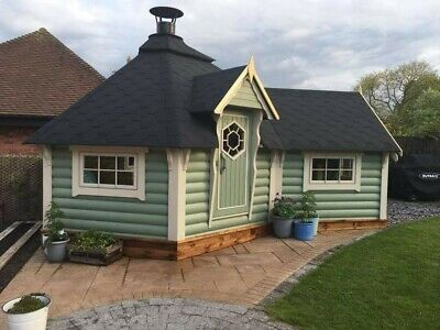 9.2m BBQ Hut with 3.6m2 extension / Grill Cabin / Summer House...
