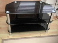 Smoked Glass TV Stand as new