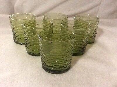 Anchor Hocking Soreno Avocado Green Juice Glasses Rocks Glasses (set of 6)